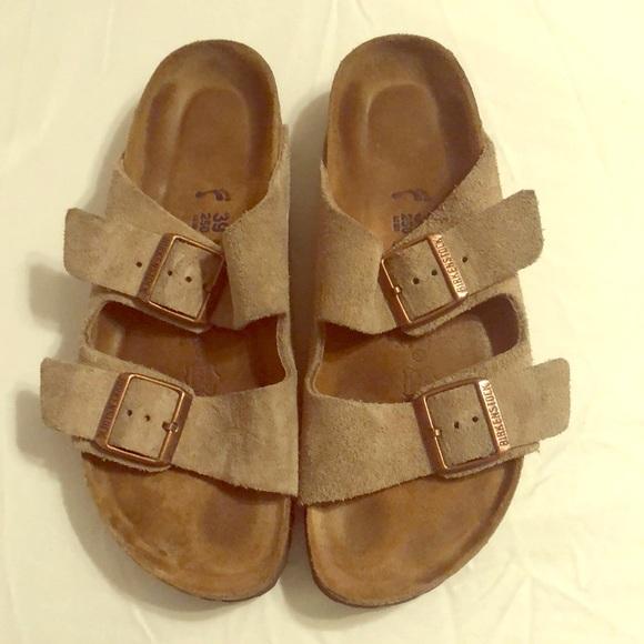 cb5358724e Birkenstock Shoes - Birkenstock ARIZONA Suede Taupe 39 (8-8.5) SFB